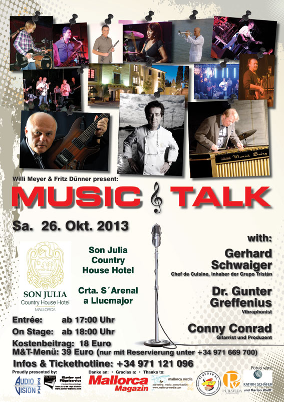 Plakat Music and Talk Mallorca 26102013