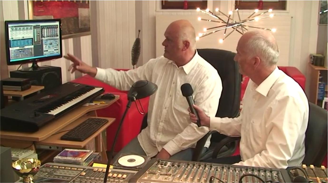 Conny mit Hubert im Studio