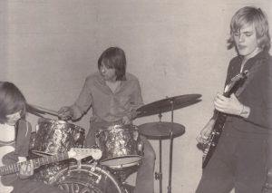 BLACK LADY 1974: v.l.n.r.: Ralf Häffner, Eduard Barnowsky, Conny Conrad